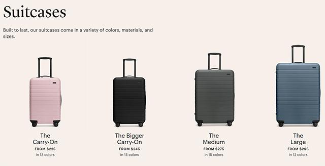 Awayのスーツケースの価格帯は2~3万円台