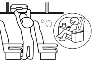 スーツケースの機内持ち込みはとても便利