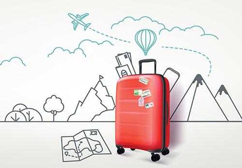 人気のかわいいスーツケース
